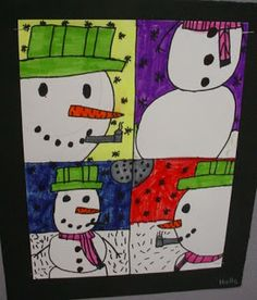 Mrs. Knight's Smartest Artists: Snowman Snapshots: using point-of-view
