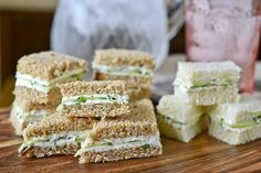 Goat Cheese And Chive Tea Sandwiches Recipe — Dishmaps