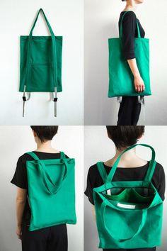 backpack that double as a tote bag! - - backpack that double as a tote bag! FASHION accessories Rucksack, der auch als Einkaufstasche dient! Diy Fashion Accessories, Bag Accessories, Fashion Jewelry, Mochila Jeans, Tote Backpack, Fashion Backpack, Rucksack Bag, Messenger Bags, Linen Bag