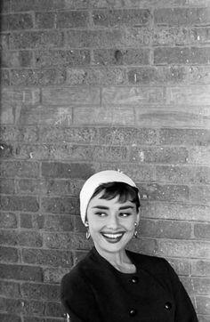 Audrey Hepburn on the set of Sabrina, 1953.