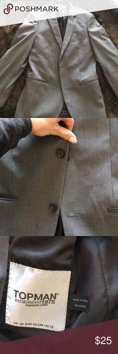 Top man blazer Men's gray blazer with 2 buttons Topman Suits & Blazers Sport Coats & Blazers