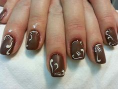 Milk chocolate nails yummm! Centro Estetico Marlyn