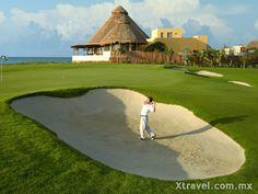 La práctica del golf es otra de las atracciones que ha crecido en aumento dentro de Playa del Carmen.