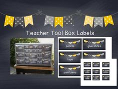 Labels for teacher toolbox - @Tamra Marbibi I thought of your classroom
