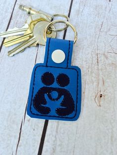 New to babymoon on Etsy: Crunchy Mama Co-sleeping support keyring bagcharm snaptab advocacy cosleeping attachment parenting logo accessory  by babymoon (8.99 USD)