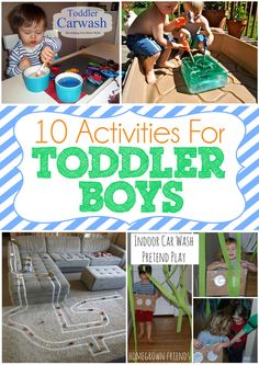 10 Activities For Toddler Boys- I have girls that would love these activities!