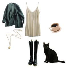 """""""Untitled #239"""" by satanskawaiislut ❤ liked on Polyvore featuring Organic, Prada and Dr. Martens"""