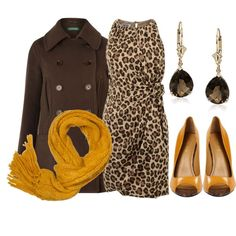 Mustard Meow 6 by qtpiekelso on Polyvore featuring Moschino Cheap & Chic, Lauren Ralph Lauren, Nine West and A Wear