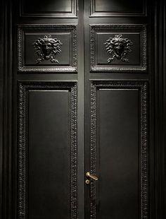 La Maison Champs Elysee by Martin Margiela black doors detail