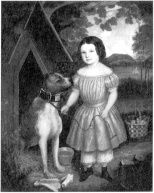 "American, ""Portrait of a Girl with a Dog"" (c. 1840)"