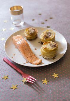 Photo de la recette : Saumon rôti et petits gratins de pomme de terre