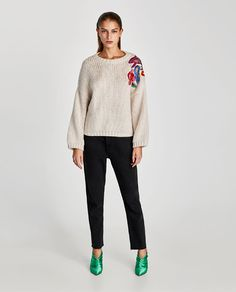 ZARA - WOMAN - FLORAL EMBROIDERED SWEATER