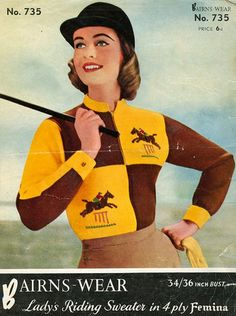 Show Jumping Knitting Pattern by place4patterns on Etsy