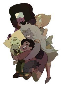 Crystal Gem Garnet Steven Universe Pearl Peridot Amethyst