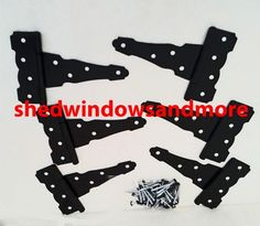 T Hinges, Strap Hinges, Shed Windows, Shed Doors, Shed Makeover, Office Playroom, Decorative Storage, Built In Storage, Colonial