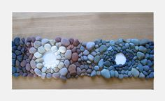 Amazing ombre river rock table runner, by Andy Goldsworthy.