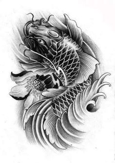 I unquestionably adore the colours, outlines, and detail. This is a terrific idea if you are looking for a Pez Koi Tattoo, Koi Tattoo Sleeve, Tattoo Sleeve Designs, Chinese Tattoo Designs, Family Tattoo Designs, Head Tattoos, Body Art Tattoos, Fish Tattoos, Mago Tattoo