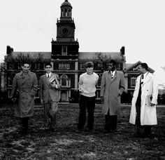 Students from Iran, Jordan, Norway, Somalia, and Jamaica pose for publicity materials in front of Founders Library on the Howard University campus in 1957. These students represented five of the thirty-nine countries with students attending Howard, though the bulk of foreign students then at Howard, Lincoln, and other black colleges and universities came from Africa and the Caribbean. Courtesy National Archives, Records of the United States Information Agency.