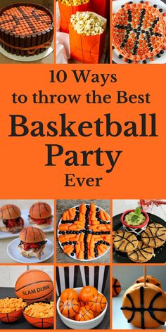 Add more fun to your next basketball party with these themed ideas that are sure to please.