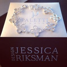 Paletti Jewelry Bliss silver bracelet designed by Jessica Riksman seen at Instagram @pirittahagman
