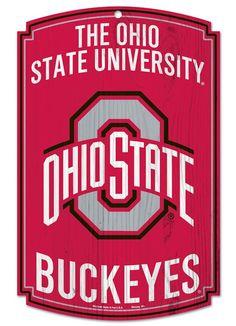 Ohio State Buckeyes Wood Sign