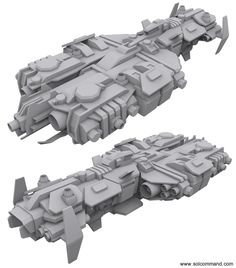 wardrum command ship void destroyer spaceship conceptships original custom unique 3d model mesh low poly solcommand pc game