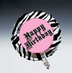 Super Stylish Birthday Metallic Party Balloons