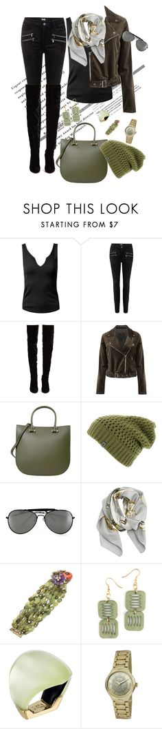 """High heels"" by roula-gedeon ❤ liked on Polyvore featuring Sans Souci, Paige Denim, Christian Louboutin, PARENTESI, The North Face, Hermès, Iradj Moini, Alexis Bittar and Kim Rogers"