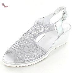 ba3a825c094c19 ara 37142-05, Sandales pour femme - argent - Silber, - Chaussures ara
