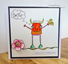 Smile by Donna Gray | That's Blogging Crafty!