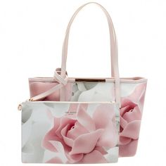 8f2f828695ba Ted Baker Womens Nude Pink Joanah Porcelain Rose Small Shopper Bag & Purse  Ted Baker Totes