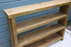Reclaimed wood shelving unit  handmade by CircleWoodShop on Etsy