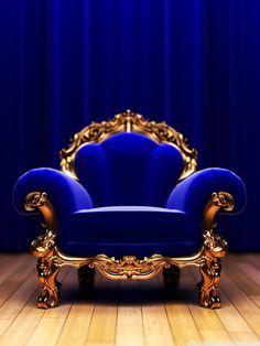 I kinda really like this obnoxious royal blue chair! -Heather Ottman