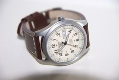 SNZG07 - Seiko Military on a brown leather strap