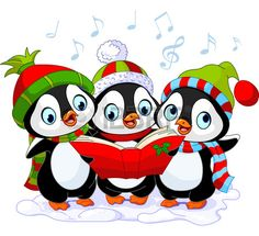 Illustration of Three cute Christmas carolers penguins vector art, clipart and stock vectors. Christmas Yard Art, Christmas Drawing, Christmas Animals, Christmas Carol, Christmas Pictures, Christmas Crafts, Funny Christmas, Christmas Trees, Merry Christmas