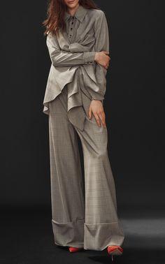 Sunshine Tie Shirt by PAPER LONDON for Preorder on Moda Operandi