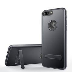 iVAPO Coque iPhone 7 PLUS avec Self-Support Coque iPhone 7 PLUS Résistante et Compacte Etui iPhone 7 PLUS Solide Coque iPhone 7 PLUS Antichoc Housse iPhone 7 PLUS avec Support Noir
