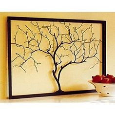 frame, twigs, & glue. finding twigs. and attempting to do this. so lovely.