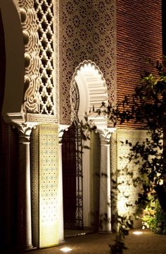 Luxurious Moroccan architecture.