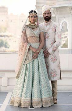 Carole Tanenbaum Vintage Collection India Art & Architecture Bride and Groom Indian Wedding Outfits, Bridal Outfits, Indian Outfits, Bridal Dresses, Indian Clothes, Bridal Lehenga Choli, Pakistani Bridal, Indian Bridal, Lehenga Wedding