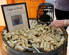 Once Upon A Wedding...: Hudson Valley Weddings - 7 Amazingly Cute Ways to Use Wine Corks at Your Wedding