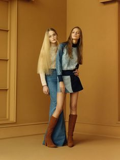 Denim maxi skirts, patchwork, and suede for Zara SS '15