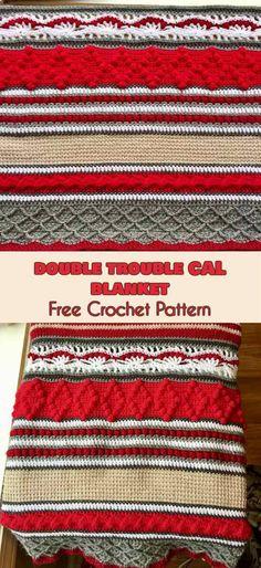 Double Trouble Cal Blanket [Free Crochet Pattern] #crochet #lovecrochet #freepattern #blanket