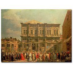 Canaletto 'Doge Visiting the Church and Scuole di St. Rocco' Art