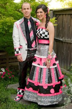 Awesome duck tape prom...ima tell my sister to get right on this..