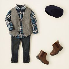 baby boy - outfits - best in blue - he's vested | Children's Clothing | Kids Clothes | The Children's Place