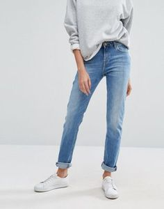 Lee Elly Slim Straight Mid Rise Jeans at Asos