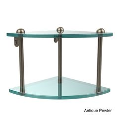 Allied Two-tier Corner Glass Shelf