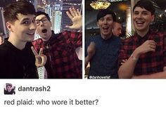 Hard choice tbh>>>I'd say phil<<<<I say Dan actually but they both look great tbh