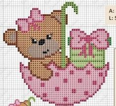 Thrilling Designing Your Own Cross Stitch Embroidery Patterns Ideas. Exhilarating Designing Your Own Cross Stitch Embroidery Patterns Ideas. Butterfly Cross Stitch, Cute Cross Stitch, Cross Stitch Flowers, Cross Stitch Designs, Cross Stitch Patterns, Cross Stitching, Cross Stitch Embroidery, Teddy Bear Crafts, Pixel Crochet